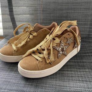 NEW Coach Rhinestone Star Suede Sneakers 6B